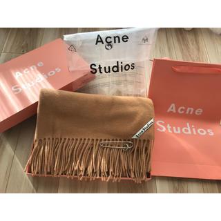 ACNE - 【最安】Acne Studios アクネ 大判ストール キャラメル ブラウン