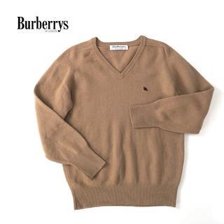 BURBERRY - スコットランド製 BURBERRYS ホース刺繍◎Vネック ウールセーター
