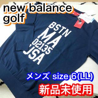 ニューバランス(New Balance)の★新品未使用 ニューバランスゴルフ クルーネック ニットプルオーバー(ウエア)