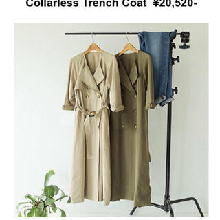 TODAYFUL - collarless trench coat