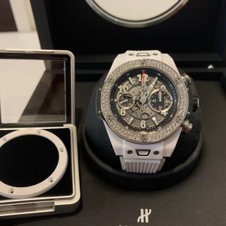 ウブロ(HUBLOT)のsuccess様専用ウニコ、ホワイトセラミック、ダイヤ、45mm美品、ウブロ (腕時計(アナログ))