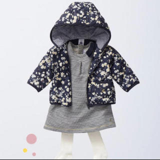 PETIT BATEAU - プチバトー 花柄アウター