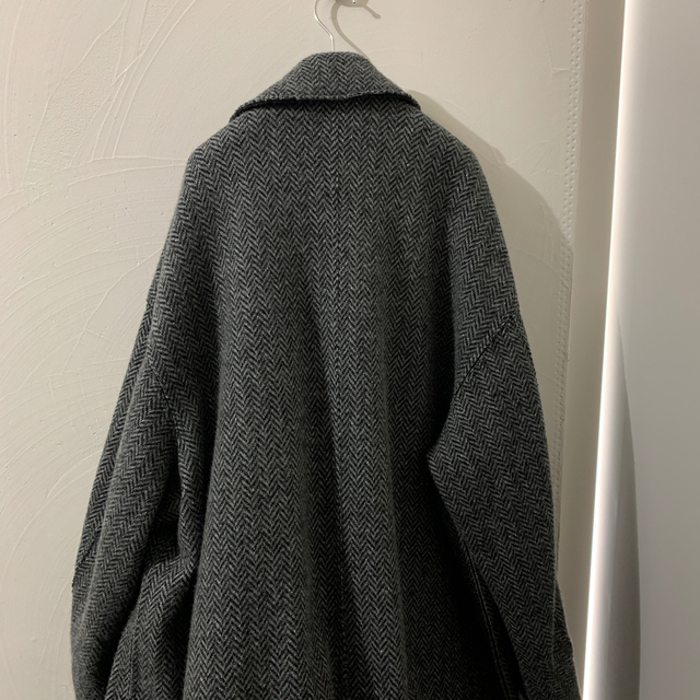 COMOLI(コモリ)のYOKE DOUBLE JQUARD KNIT BAL COLLAR COAT  メンズのジャケット/アウター(トレンチコート)の商品写真