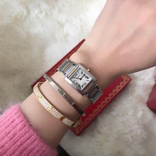 Cartier - 研磨済み✨カルティエ Cartier コンビ タンクフランセーズSM腕時計