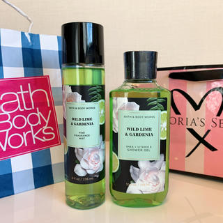バスアンドボディーワークス(Bath & Body Works)の【新品】バスアンドボディワークス 2本セット ガーデニア(ボディソープ/石鹸)