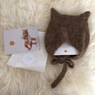 キャラメルベビー&チャイルド(Caramel baby&child )の新品希少 bambolina ねこ耳 ボンネット 12-18m(帽子)