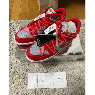 OFF-WHITE - OFF-WHITE × NIKE DUNK LOW  RED 27.5