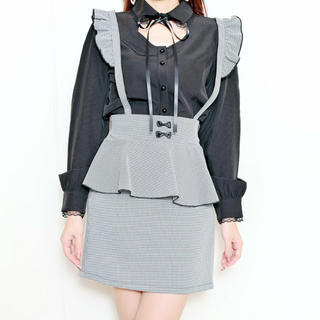 マーズ(MA*RS)のMA*RS プチリボンペプラムタイトスカート(ミニスカート)
