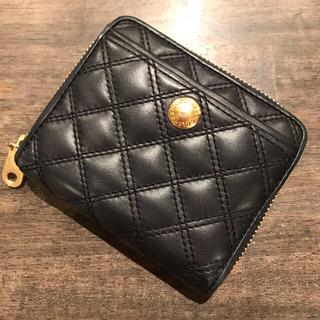 コールハーン(Cole Haan)のレディース 折り財布(黒にゴールドボタン、ファスナー)(財布)