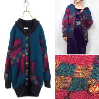 サンタモニカ(Santa Monica)の Vintage wool knit cardigan(ニットコート)