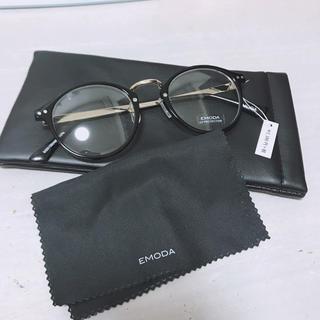 エモダ(EMODA)のEMODA ラウンドフレームアイウェア ブラック(サングラス/メガネ)