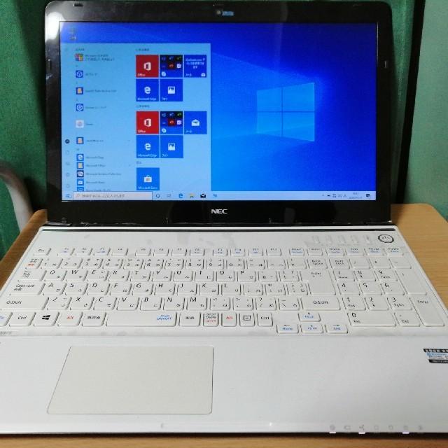 NEC(エヌイーシー)の美品!NEC 最新Windows10 高速i5 メモリ8GB ブルーレイ スマホ/家電/カメラのPC/タブレット(ノートPC)の商品写真