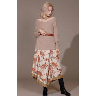 Lily Brown - 新品 タグつき リリーブラウン フラワーチェーン柄スカート