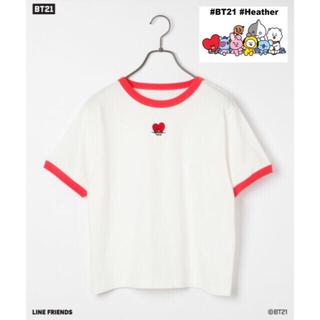 ボウダンショウネンダン(防弾少年団(BTS))の新品 Heather  bt21 BTS tata タタ Tシャツ テヒョン(Tシャツ(半袖/袖なし))