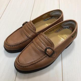 バーバリー(BURBERRY)の【ほぼ新品】ローファー バーバリー Burberry 24.5cm レディース(ローファー/革靴)