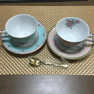NARUMI - ナルミNARUMIカップ&ソーサー新品未使用ティースプーン付ペア マグカップ