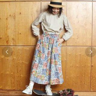 アトリエドゥサボン(l'atelier du savon)のアトリエドゥサボン ローンfunky graffitiスカート(ロングスカート)