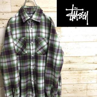 STUSSY - *ステューシー*長袖チェックシャツ*ネルシャツ*Sサイズ*