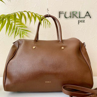 Furla - FURLA フルラ 約5万 総本革 2way レザーハンドバッグ 鞄