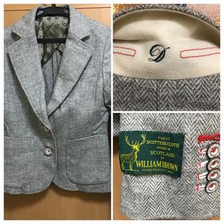 ダブルスタンダードクロージング(DOUBLE STANDARD CLOTHING)のダブルスタンダード  ウィリアムブラウン ツイードジャケット36(テーラードジャケット)