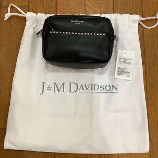 ジェイアンドエムデヴィッドソン(J&M DAVIDSON)のJ&M Davidson リップスティック ポシェット  ブラック 新品未使用品(ショルダーバッグ)