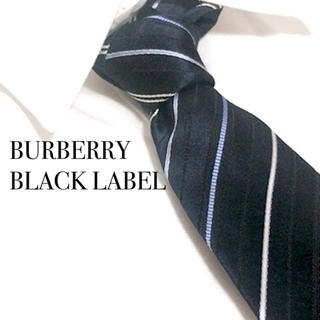 BURBERRY BLACK LABEL - レア BURBERRY BLACK LABEL バーバリー ネクタイ ネイビー