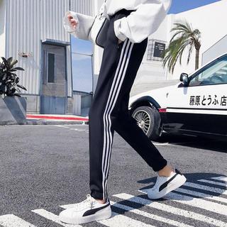 adidas - オフホワイト adidas風 ライン ジャージ スウェット 男女兼用