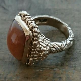 スティーブンデュエック レッドマザーオブパール ブロンズ リング(リング(指輪))
