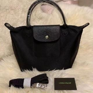 LONGCHAMP - ロンシャン プリアージュ ネオ 新品 ブラック s ハンドバッグ