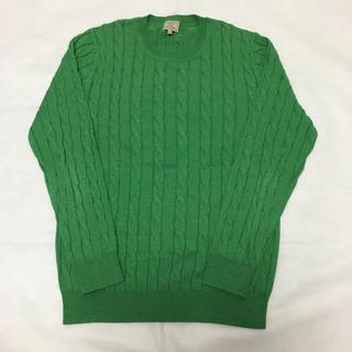 グリーンレーベルリラクシング(green label relaxing)のグリーンレーベルリラクシング セーター 緑(ニット/セーター)