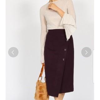 アクアガール(aquagirl)のアクアガール ラップペンシルウールスカート(ひざ丈スカート)