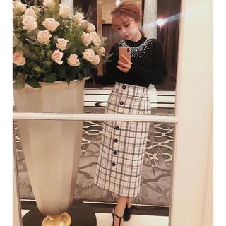 eimy istoire - eimy istoire♡チェックツイードベルトポイントスカート