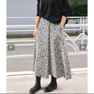 IENA - 【新品未使用】IENA♡フラワージャガードフレアスカート