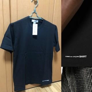 コムデギャルソン(COMME des GARCONS)の【新品】コムデギャルソンシャツ ロゴ 半袖 Tシャツ S ブラック 黒(Tシャツ/カットソー(半袖/袖なし))