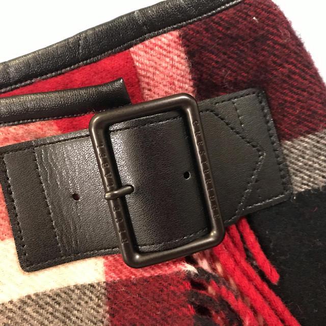 BURBERRY BLUE LABEL(バーバリーブルーレーベル)のブルーレーベル  クレストブリッジ 赤 スカート  38 レディースのスカート(ミニスカート)の商品写真