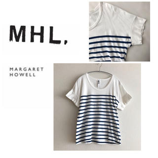 MARGARET HOWELL - MHL.☆マーガレットハウエル★ボーダー Tシャツ 半袖