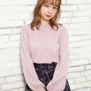 INGNI - 【新品】肩パールレースニット!!【イング】