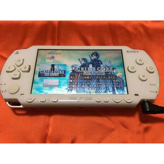 プレイステーションポータブル(PlayStation Portable)のSONY PSP 1000 ホワイト メモステ4GB付属 ファイナルファンタジー(携帯用ゲーム機本体)