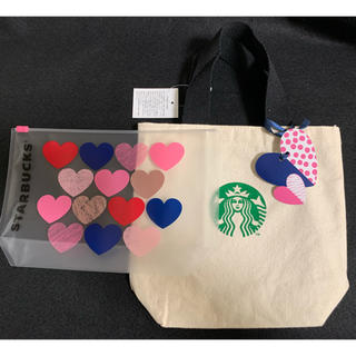 スターバックスコーヒー(Starbucks Coffee)のスターバックス バレンタイン トートバッグとポーチ(トートバッグ)