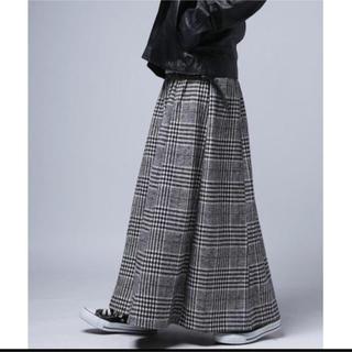 【antiqua】チェックロングスカート