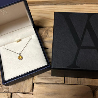 Vendome Aoyama - ヴァンドーム青山 シトリン&ダイヤモンド ドロップネックレス pt950/850