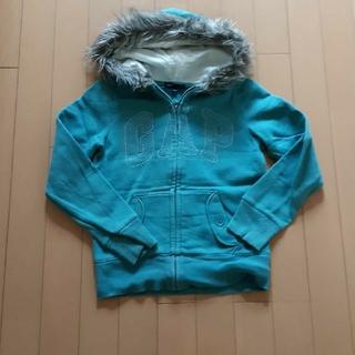 ギャップ(GAP)のギャップGapターコイズブルー長袖パーカートレーナー140(ジャケット/上着)