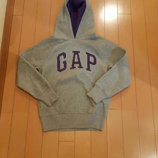 ギャップ(GAP)のギャップGapグレー×紫長袖フリースパーカートレーナー130サイズ(ジャケット/上着)