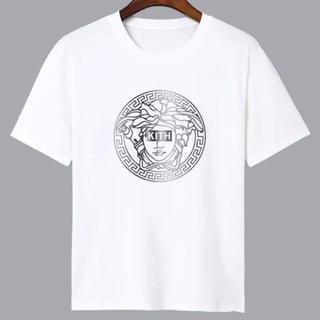 VERSACE - KITH VERSACE メドゥーサ 銀 シルバー プリント Tシャツ Mサイズ