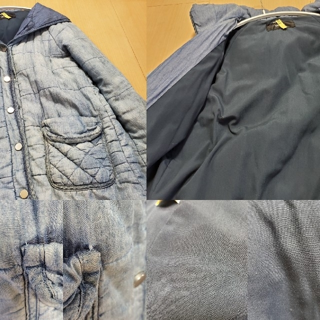 VICKY(ビッキー)のVICKY  コート デニム風中綿コート ブルゾン ジャケットVICKYアウター レディースのジャケット/アウター(ブルゾン)の商品写真
