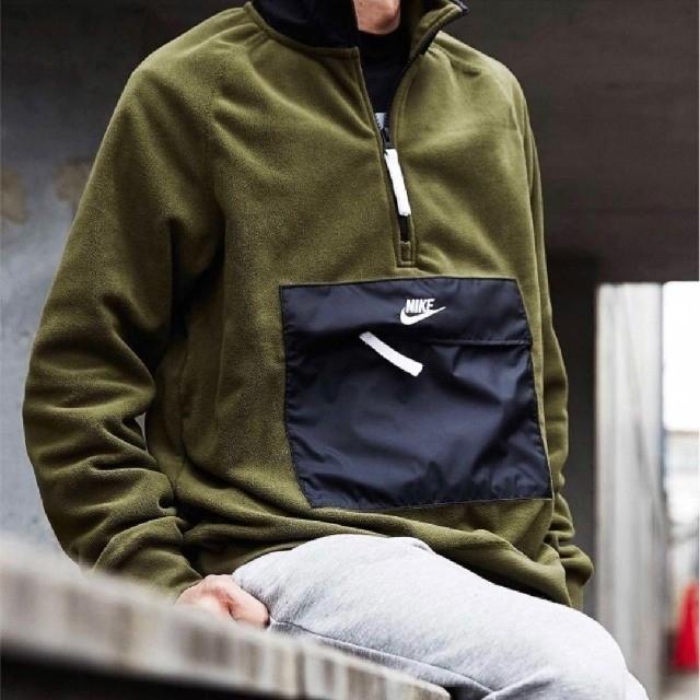 NIKE(ナイキ)の【完売商品】ナイキ ハーフジップ フリース コアウィンター アースカラー メンズのトップス(スウェット)の商品写真