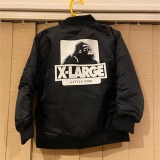 X-girl Stages - 新品 x-lage  kids バックロゴ ma-1 ブラック