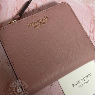 kate spade new york - WLRU5431 ケイトスペード ID入れつき コンパクト 折り財布 ピンク