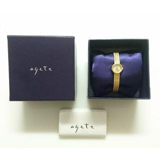 アガット(agete)の【美品】agate(アガット) ラウンドフェイスジュエリーウォッチ(腕時計)