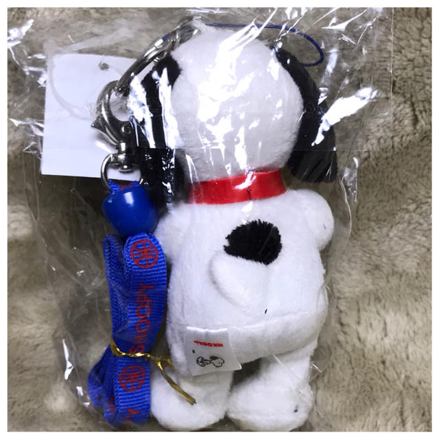 PEANUTS(ピーナッツ)のスヌーピー ネックストラップ(バンド青)マスコット エンタメ/ホビーのおもちゃ/ぬいぐるみ(キャラクターグッズ)の商品写真